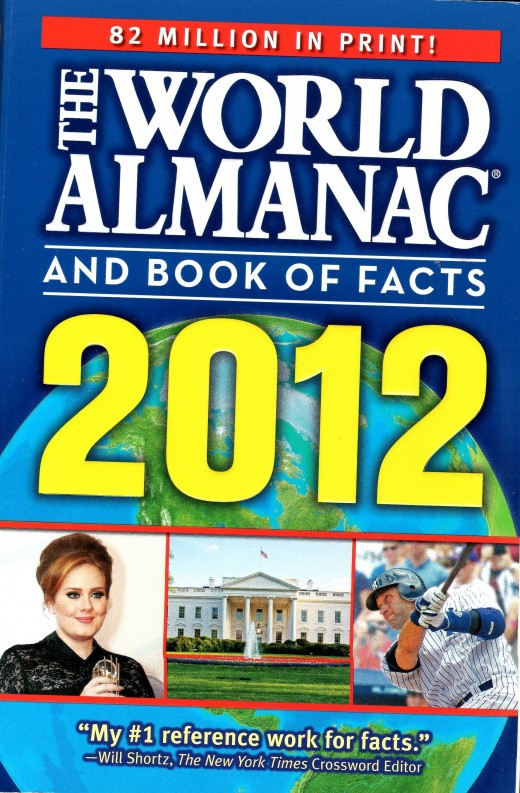 The World Almanac and Bookf of Facts is a great general reference tool for just about any purpose: writing, researching, trivia games, fishing and boating, or even looking at the stars.