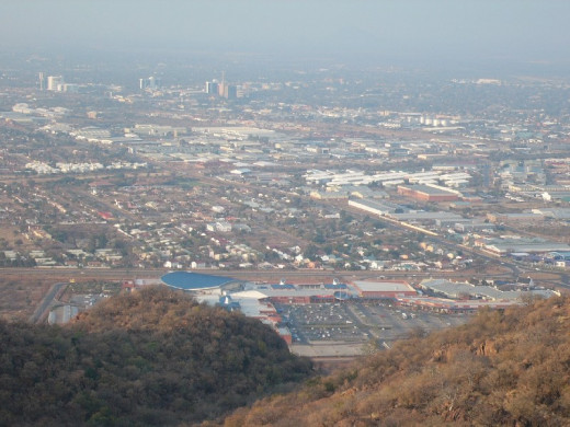View Of Gaborone From Kgale Hills