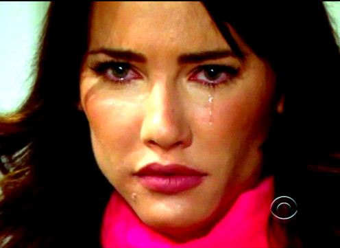 Steffy in tears when she realizes Hope did not leave Liam and that whatever happened between LIam and Seffy had to be forgotten...