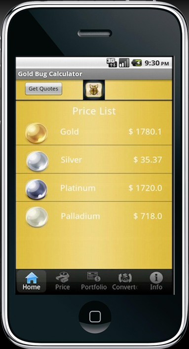 Calculate Precious Metal Prices in Tael, Luong and Tola on your iPhone or Android