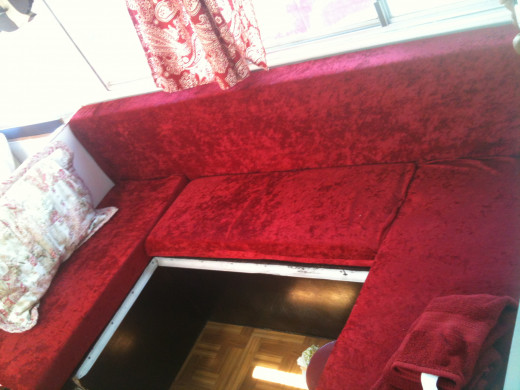 Completed velvet seat