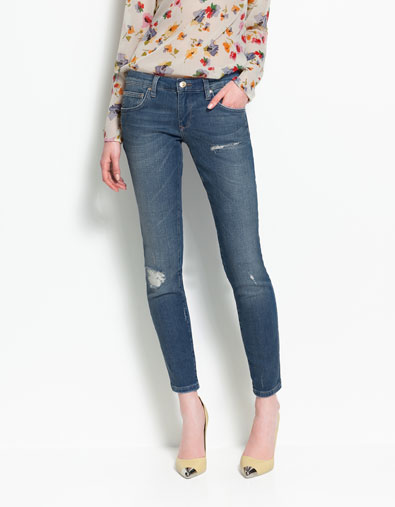 Vintage Pop Slim Jeans in Denim