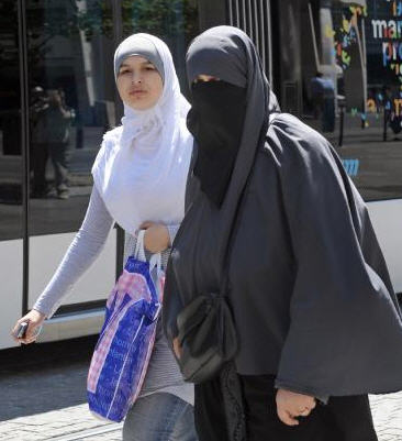 The woman on the left is very acceptable in the West. the one on the right, is the problem.