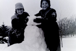 My brothers Jimmy & Johnny (as they were known back then) playing in the snow in Wisconsin - 1950s