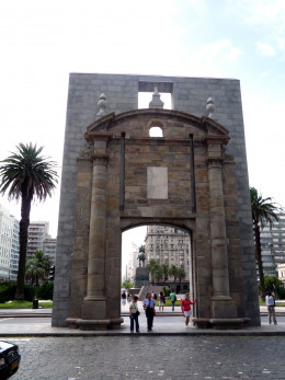 Gateway to the old fortified city, Montevideo