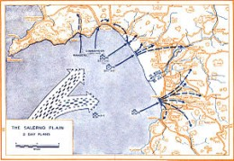 Salerno Landing plan