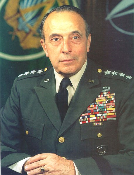 Four-star General Lyman L. Lemnitzer, US Army. Chief of Staff of the Army, Chairman of the Joint Chiefs of Staff and Supreme Allied Commander, Europe. Author of Operation Northwoods.