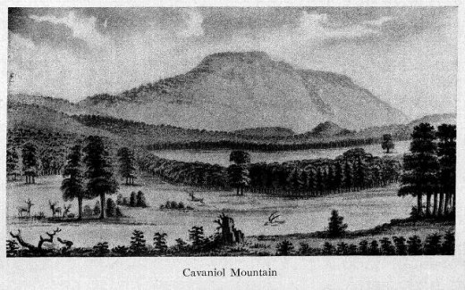 """Cavanal Hill as illustrated by Thomas Nuttall in the early 1800s: Cavanal Hill, located just outside of Poteau, is known as the """"worlds highest hill"""".  It is one foot short of being classified as a mountain."""