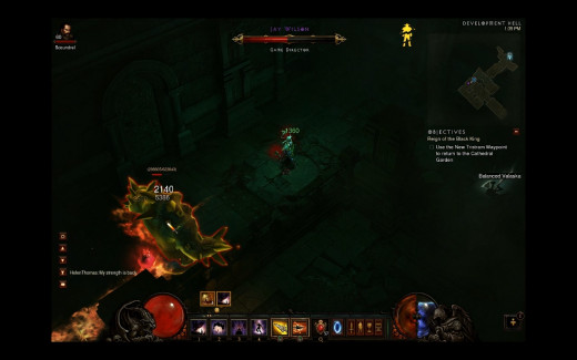 The unique unburied Jay Wilson mob in Diablo 3.
