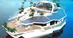 Man-made Floating Islands and Resorts in Space.