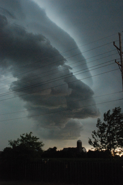 When we saw it it looked weird for sure, but since it wasn't a tornado we weren't aware of the destruction it was causing