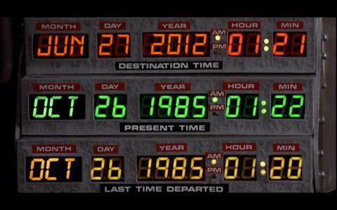 It is such a rare event, and it happened two days after the entry date programmed into the time machine of Back to the Future. Maybe the energy from the storm was used by an 88 mph DeLorean to go Back to the Past?