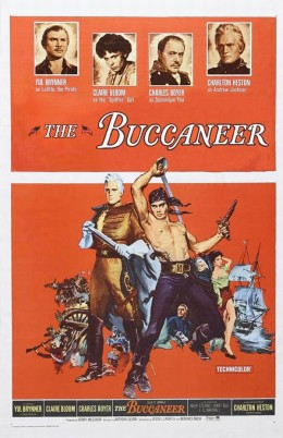 The Buccaneer (1958) poster