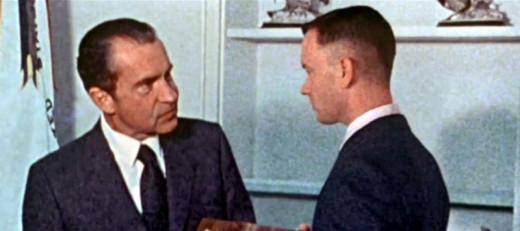 Nixon meets Hanks in Forrest Gump (1994)