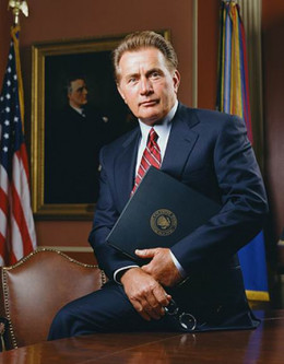 Martin Sheen as President Bartlet in The West Wing