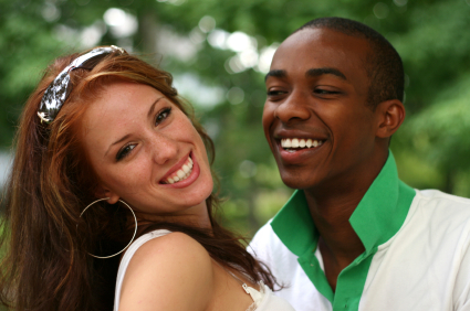 white female and black male couple
