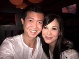 Asian male and white female couple