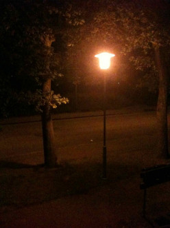 When street lamps were first used?