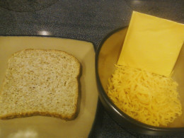 Sprouted whole grain bread and fat free cheese