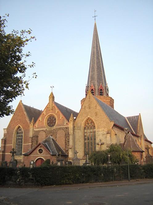 The Sint-Bavokerk, in Watou, Belgium
