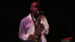 Jerry Blake plays a smoothe sax.