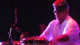Raleigh Lewis, plays percussion for Point Blank