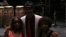 My Sister Paulette and I, pose with Tom Braxton after his impressive performance.