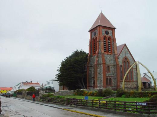 Christ Church -  Port Stanley, holds a memorial for the Battle of Coronel, 1st November, 1914