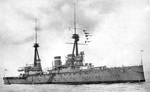 HMS Invincible took part in the Battle of the Falkland Islands, WW1.