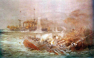 The battle of the Falkland Islands