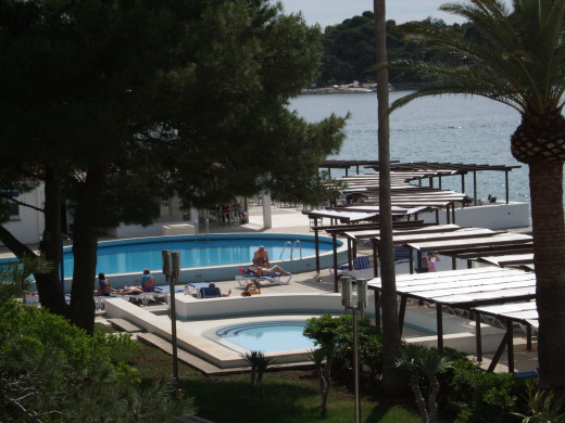 Looking Out Over The Pool Iberostar Hotel Cavtat