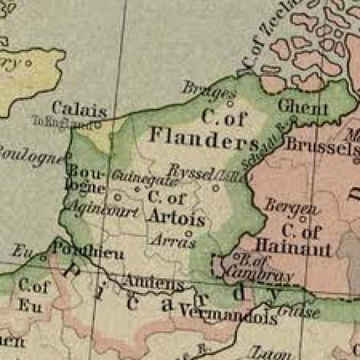 The Low Countries, open waterways, easy access to trade routes for merchants... And Vikings