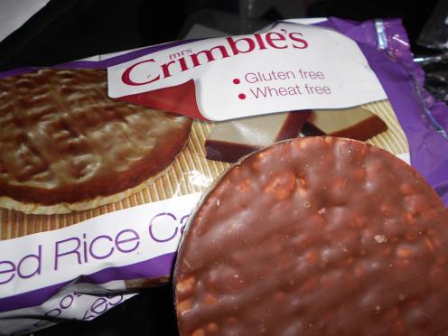 Choc Coated Rice Cakes