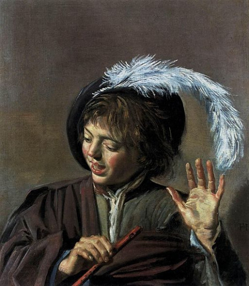 Frans Hals - Singing Boy with a Flute