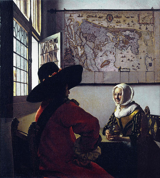 Jan Vermeer - Officer and a Laughing Girl