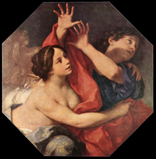 Joseph and Potiphar's Wife - oil on canvass - by Carlo Cignani