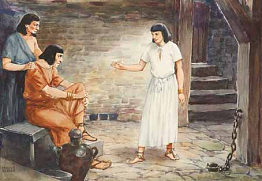 Joseph in Prison - Illustration © Review and Herald Publishing Association.