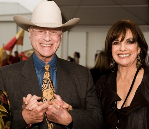 Larry Hagman and Linda Gray of Dallas fame
