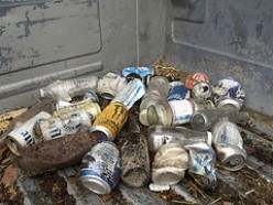 """Slobs"" do have garbage cans or garbage disposals."