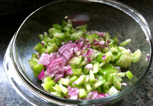 Add the red onion.