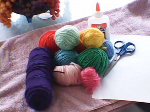 Supplies you need for Yarn Art