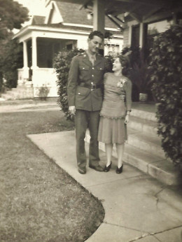 Two newly married pharmacists prior to Jack's deployment during WW2.