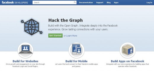 Open your Web browser and navigate to the Facebook Developers website.