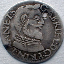 Gabriel Báthory (1608 -1613 AD) Prince Of Transylvania (coin is technically early modern)