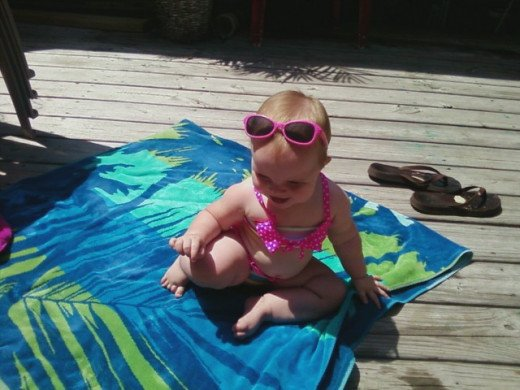 Baby sunglasses are adorable!