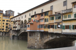 The famous Ponte Vecchio (old bridge)