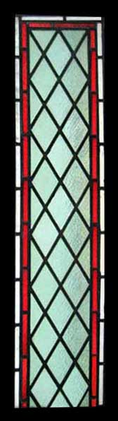 leaded glass opaque and red glass