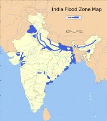 The Indian Flood Zone is quite extensive leaving Millions homeless refuges.