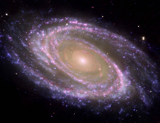M81 a galaxy 12 million light years distant in the constellation of Ursa Major. As mankind explores the Solar System, a whole universe awaits