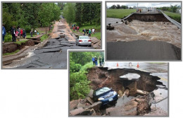 This kind of damage is due largely to underground flooding as Duluth mostly sits on a granite base but is at the tearing point of the NMFZ.